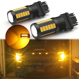 For Ford F150 F250 F350 Super Duty 33 Smd 3000k Turn Signal Light 3157 Led Bulbs
