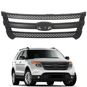For 2011 2015 Ford Explorer Snap On Grille Overlay Black Full Front Grill Covers