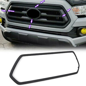 For Toyota Tacoma 2016 2019 Sr Black Grille Trim Bezel New Oe Style