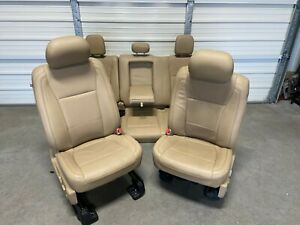 2017 2020 Ford F150 F250 F350 F450 Super Duty Front Rear Seats Tan Leather
