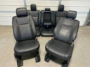 2017 2020 Ford F250 F350 F450 Super Duty Front Rear Seats Black Leather
