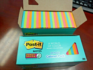 Post it Notes Super Sticky World Of Color 48 Pads Cabinet Pack 3 X 3 Business