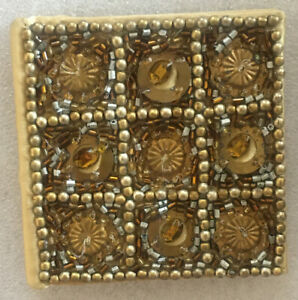 New Purva Mini Note Pad Gold Brown Sequins Gift Girls Ladies Women Stationary