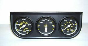 Equus 1 1 2 Mechanical Triple Gauges Set Oil Temp Amp 6075