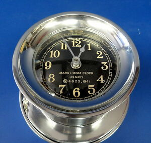 Us Navy Mki Boat Clock 1941 New Condition