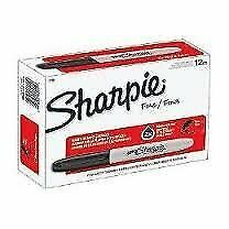 Sharpie Permanent Markers Fine Point Black 24 Packs Of 12