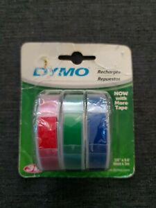 Dymo 3 8 In W X 9 8 Ft L Blue green red Lable Maker Tape
