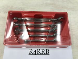 Snap on Tools Usa New 5pc Sae Double Flare Nut 6 Point Line Wrench Set Rxfs605b