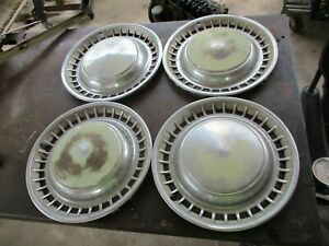 67 76 Mopar A Plymouth Duster Valiant Scamp 14 Inch Hub Caps Complete Oem Set