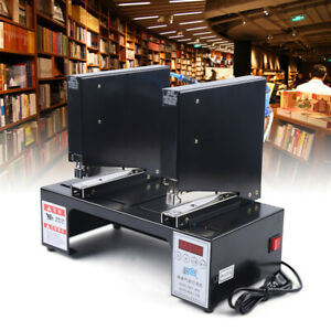 Induction Double head Pneumatic Stapler Packaging Binding Machine with Counter