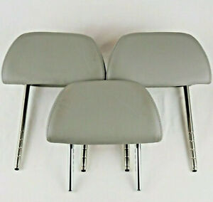 1999 Volkswagen Vw Gti Vr6 Headrests Gray Leather For Rear Seats Set Of 3