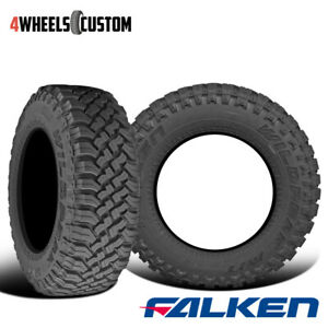 2 X Falken Wild Peak M T Lt295 70r17 E 121 118q Toughest All Terrain Mud Tires