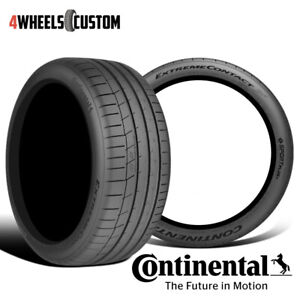 2 X New Continental Extremecontact Sport 245 40r17 91w Performance Summer Tire