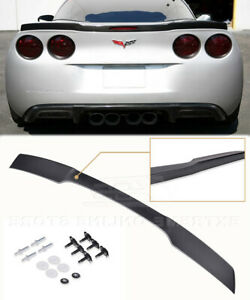 Zr1 Style Rear Trunk Wing Spoiler Fits 05 13 Corvette C6 Abs Plastic Painted