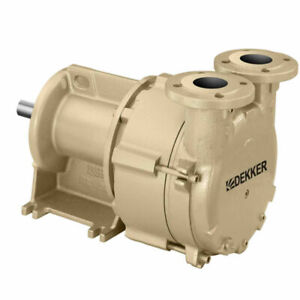 New Dekker Liquid Ring Vacuum Pump 75 Acfm 5hp