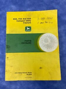 John Deere Parts Catalog For 655 755 855 Compact Utility Tractor pc2054