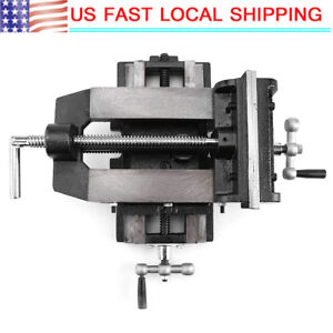 6 Cross Slide Drill Press Vise Metal Milling Vice 2 way Clamp Bench Mount Us