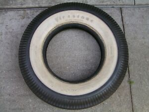 1950 S Firestone 7 10 15 Deluxe Champion Gum Dipped Wide White Wall Tire Unused