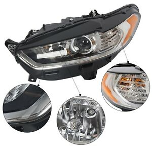 For 2013 2014 2015 2016 Ford Fusion Headlight Light Lamp Left Lh Driver Side