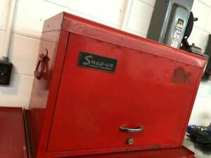Vintage Snap On Tools 9 Nine Drawer Tool Chest Box Cabinet Without Key