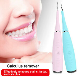 Dental Cleaner Ultrasonic Tooth Stain Calculus Eraser Remover Teeth Whitening Us