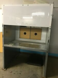 Global Finishing Shelf Type Spray Booth With Fan Light Filters Regulators etc