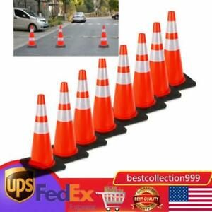 8pcs 28 Traffic Cones Overlap Parking Construction Emergency Road Safety Cone