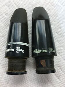 Charles Bay Clarinet Mouthpiece Two Piece Lot