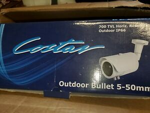 Costar Outdoor Bullet Cctv Camera Kit Cbt3650kit 5 50mm Lens 700 Tvl 24v Ac Ln