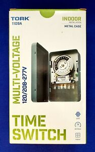 Tork 1109a Mechanical Timer Switch 40 Amp 24 hour 120 208 To 277 v Indoor outdoo