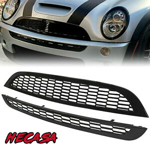 Fit 02 06 Mini Cooper R50 R52 R53 Jcw Style 2 Pcs Honeycomb Mesh Grill Grille