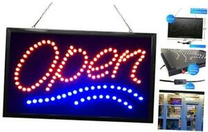 Waenlir 22x13 Inch Bright Vertical Led Open Sign For Business High Visibility E