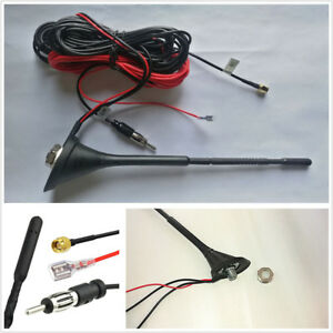 Car Dab dab Radio Aerial Amplified Roof Mount Antenna Am fm Sma Male Connector