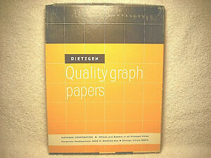 Vintage Dietzgen Quality Graph Papers 8 1 2 X 11 In 340 10 Un used 100 In Box