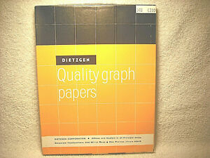 Vintage Dietzgen Quality Graph Papers 8 1 2 X 11 In 340 l310 Un used 100 Box