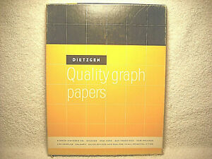 Vintage Dietzgen Quality Graph Papers 8 1 2 X 11 In 340 l11 92 Un used Sheets