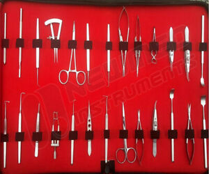 German Ophthalmic Cataract Eye Micro Surgery Surgical Instruments Set Kit