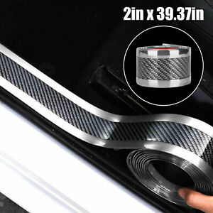 Auto Accessories Carbon Fiber Vinyl Car Door Sill Scuff Plate Sticker Protector
