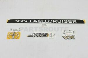 Toyota Land Cruiser Oem Genuine Tailgate Hatch 4wd Vx Emblem Ornament 80 Series