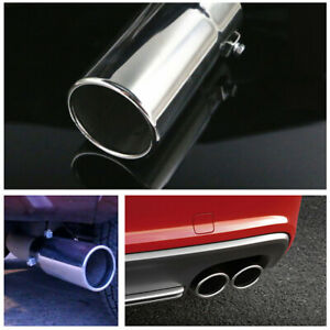 Universal Exhaust Tip Trim Tail Pipe Muffler 2 7 Inlet Chrome Stainless Steel