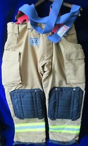 New Honeywell Morning Pride Firefighter Pants W suspenders Turnout Gear