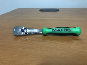 Matco Tools 1 4 Drive Ratchet 6 Ratchet Green Ergo Handle Afr5tga