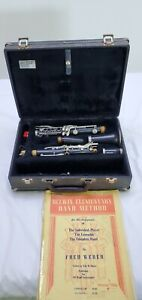 ARTLEY CLARINET WITH CASE and music book  great condition!