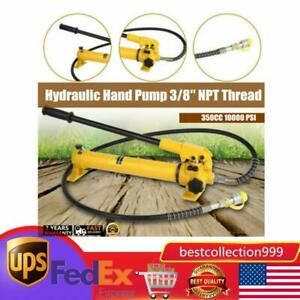 Cp 700 Manual Hand Hydraulic Power Pack Pump 2 Stage 10000 Psi 3 8 Npt