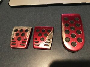 Oem Obx Racing For Scion Xa Xb Manual Pedal Cover Pad Set Aluminum 5 Speed Red