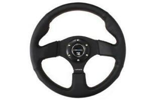Nrg Innovations Steering Wheel leather 320mm W Red Stitch Rst 012r rs