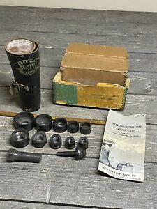 Greenlee No 735bb Ball Bearing Knockout Punch Set 1 2 To 1 1 4 In Leather Case