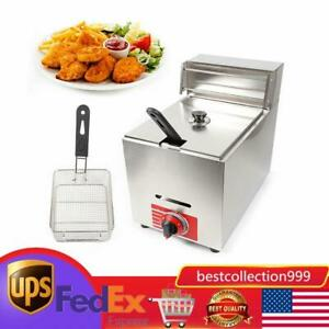 New 10l Single Basket Commercial Deep Fryer Propane Gas Use Counter Top