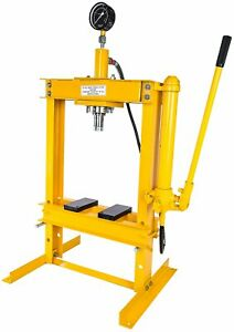 Jegs 81636 Hydraulic Shop Press 10 Ton Bench Top Mount Working Range 1 1 2 To 1