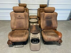 1997 2003 Ford F 150 F150 Crew Cab King Ranch Front Rear Bucket Seats